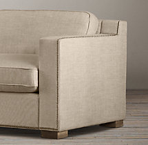 5' Collins Upholstered Sofa With Nailheads