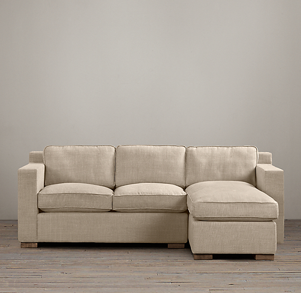 Collins Upholstered Right-Arm Sofa Chaise Sectional