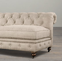 "72"" Kensington Upholstered Armless Sofa"