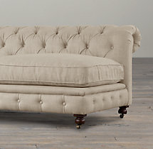"120"" Kensington Upholstered Armless Sofa"