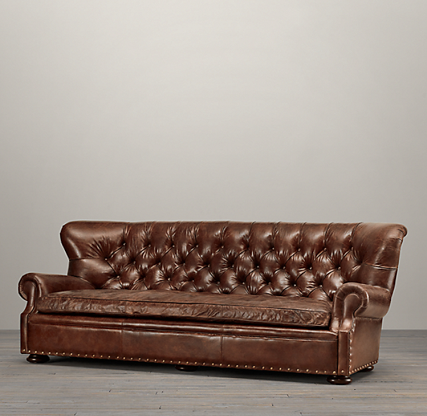 9' Churchill Leather Sofa