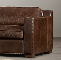 5' Collins Leather Sofa  With Nailheads
