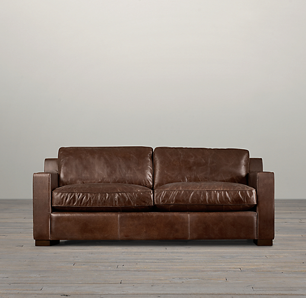 6' Collins Leather Sofa