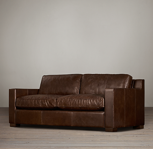 8' Collins Leather Sofa