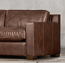 9' Collins Leather Sofa