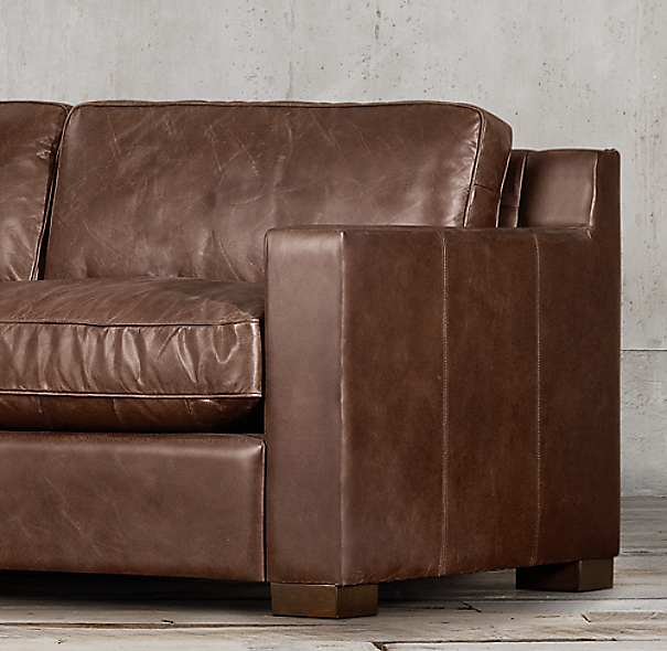 10' Collins Leather Sofa