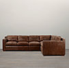 Collins Leather Right-Arm L-Sectional