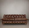 "84"" Kensington Leather Armless Sofa"
