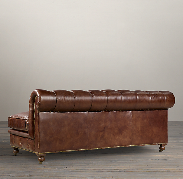 "72"" Kensington Leather Armless Sofa"