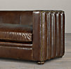 5' Maxime Leather Sofa