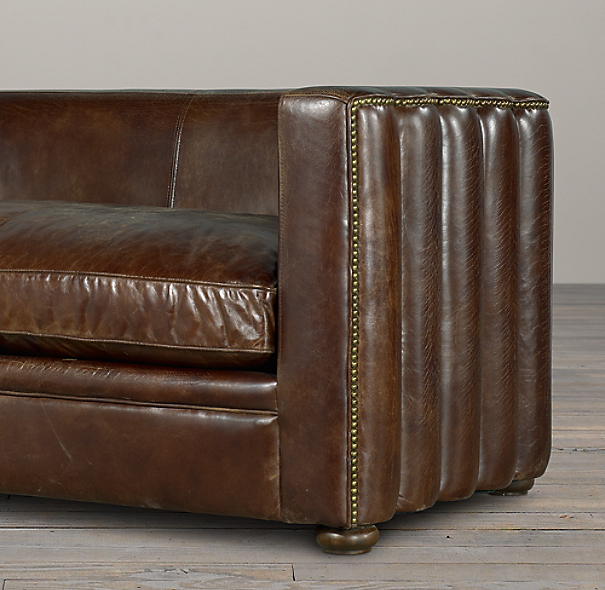 6' Maxime Leather Sofa