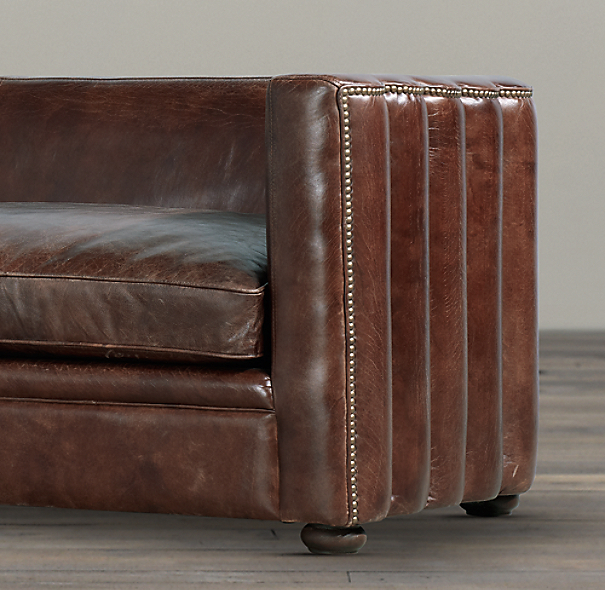 7' Maxime Leather Sofa