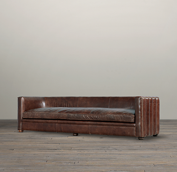 8' Maxime Leather Sofa