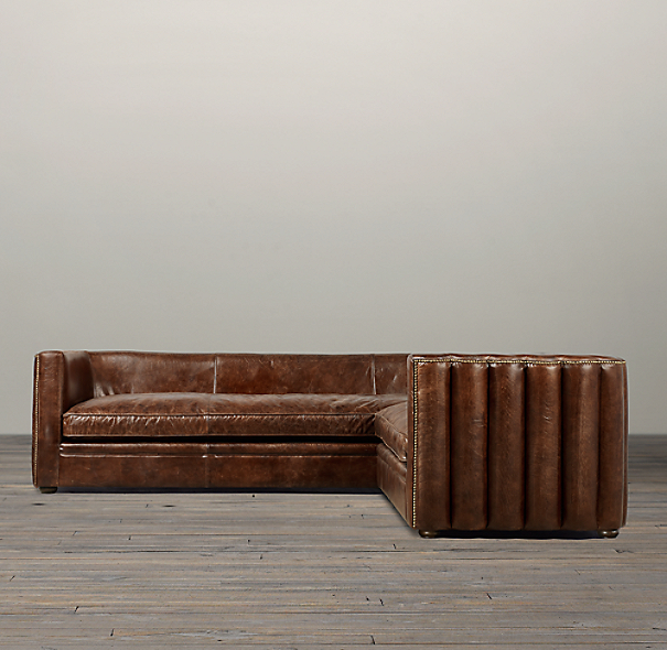 Maxime Leather Corner Sectional