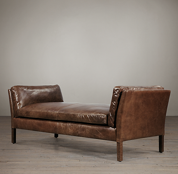 6' Sorensen Leather Bench