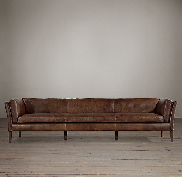 9' Sorensen Leather Sofa