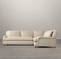 Belgian Classic Roll Arm Upholstered Corner Sectional