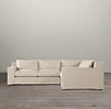 Capri Slipcovered Corner Sectional