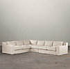 Capri Slipcovered L-Sectional
