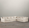 Capri Slipcovered Right-Arm L-Sectional