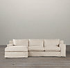 Capri Slipcovered Left-Arm Sofa Chaise Sectional