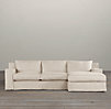 Capri Slipcovered Right-Arm Sofa Chaise Sectional