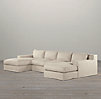 Capri Slipcovered U-Chaise Sectional