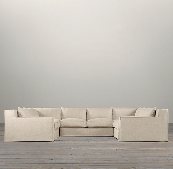 Capri Slipcovered U-Sofa Sectional
