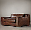 5' Capri Leather Sofa