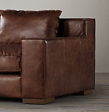 6' Capri Leather Sofa