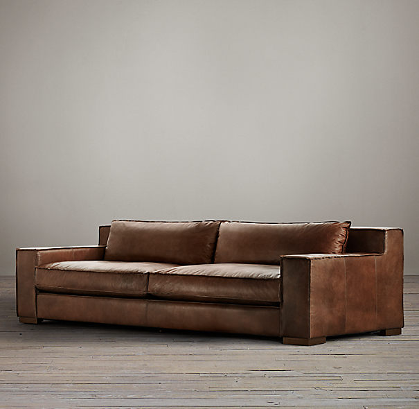 8' Capri Leather Sofa