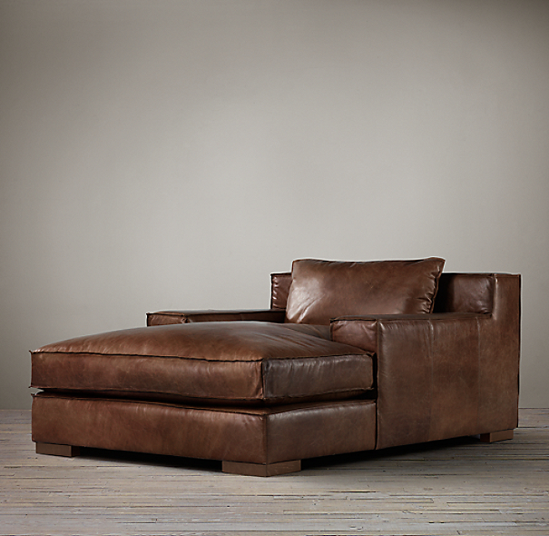 Capri Leather Chaise