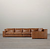 Capri Leather Right-Arm L-Sectional