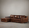 Capri Leather Left-Arm Sofa Chaise Sectional