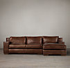 Capri Leather Sofa Chaise Sectionals