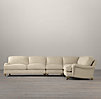 English Roll Arm Upholstered Right-Arm L-Sectional