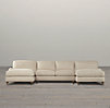 English Roll Arm Upholstered U-Chaise Sectional