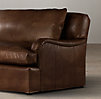 5' Belgian Classic Roll Arm Leather Sofa