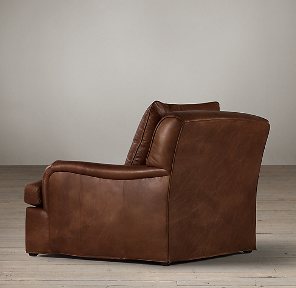 Belgian Classic Roll Arm Leather Chair
