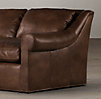 6' Belgian Roll Arm Leather Sofa
