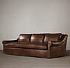 Belgian Roll Arm Leather Sofas