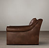 Belgian Roll Arm Leather Chair