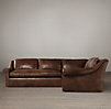 Belgian Roll Arm Leather Sectionals