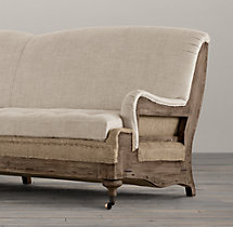 Deconstructed English Roll Arm Sofa