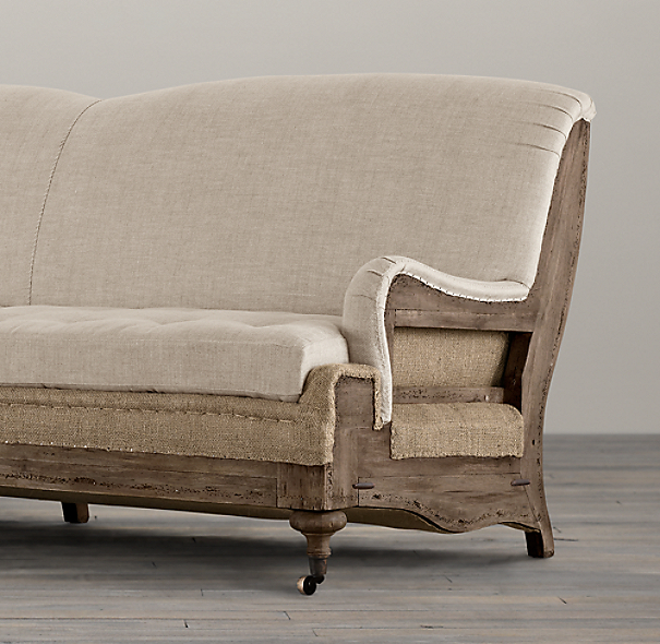 Deconstructed English Roll Arm Sofas
