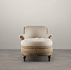Deconstructed French Victorian Left-Arm Chaise