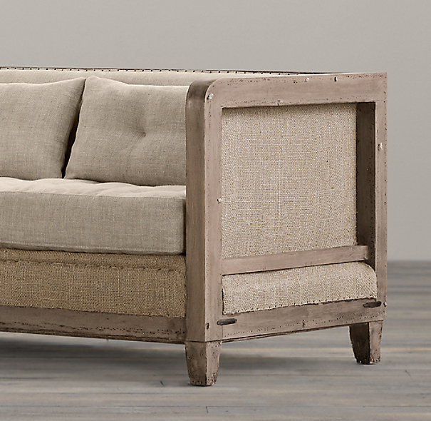 Deconstructed Shelter Arm Sofa