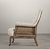 Deconstructed Tufted Roll Arm Chair