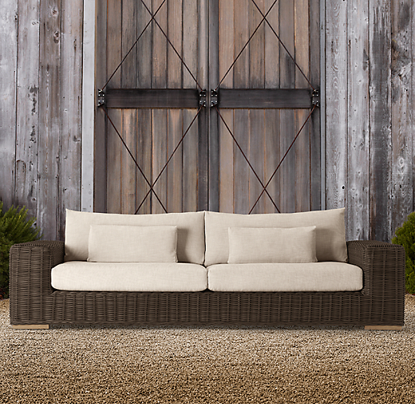 "102"" Majorca Luxe Sofa Brown"