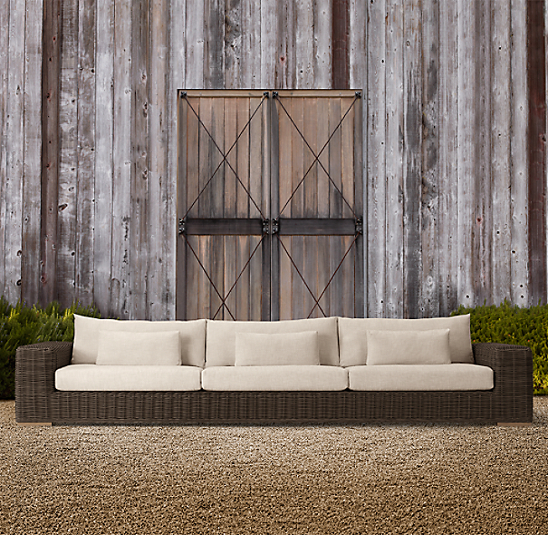 "141"" Majorca Luxe Sofa Brown"